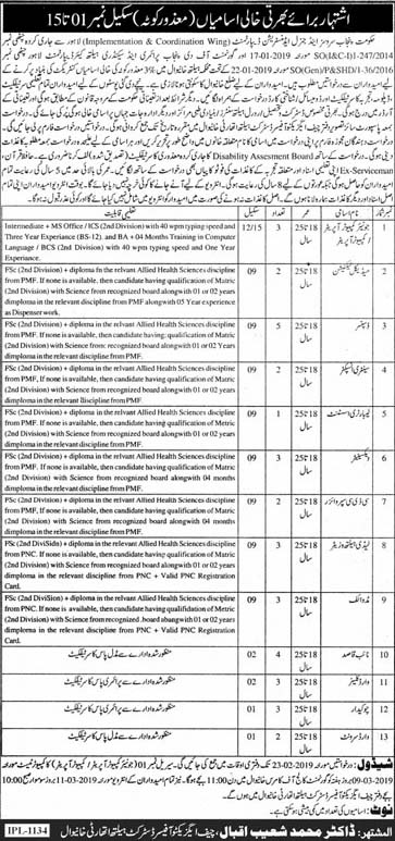 Health Authority Khanewal Feb 2019 Jobs