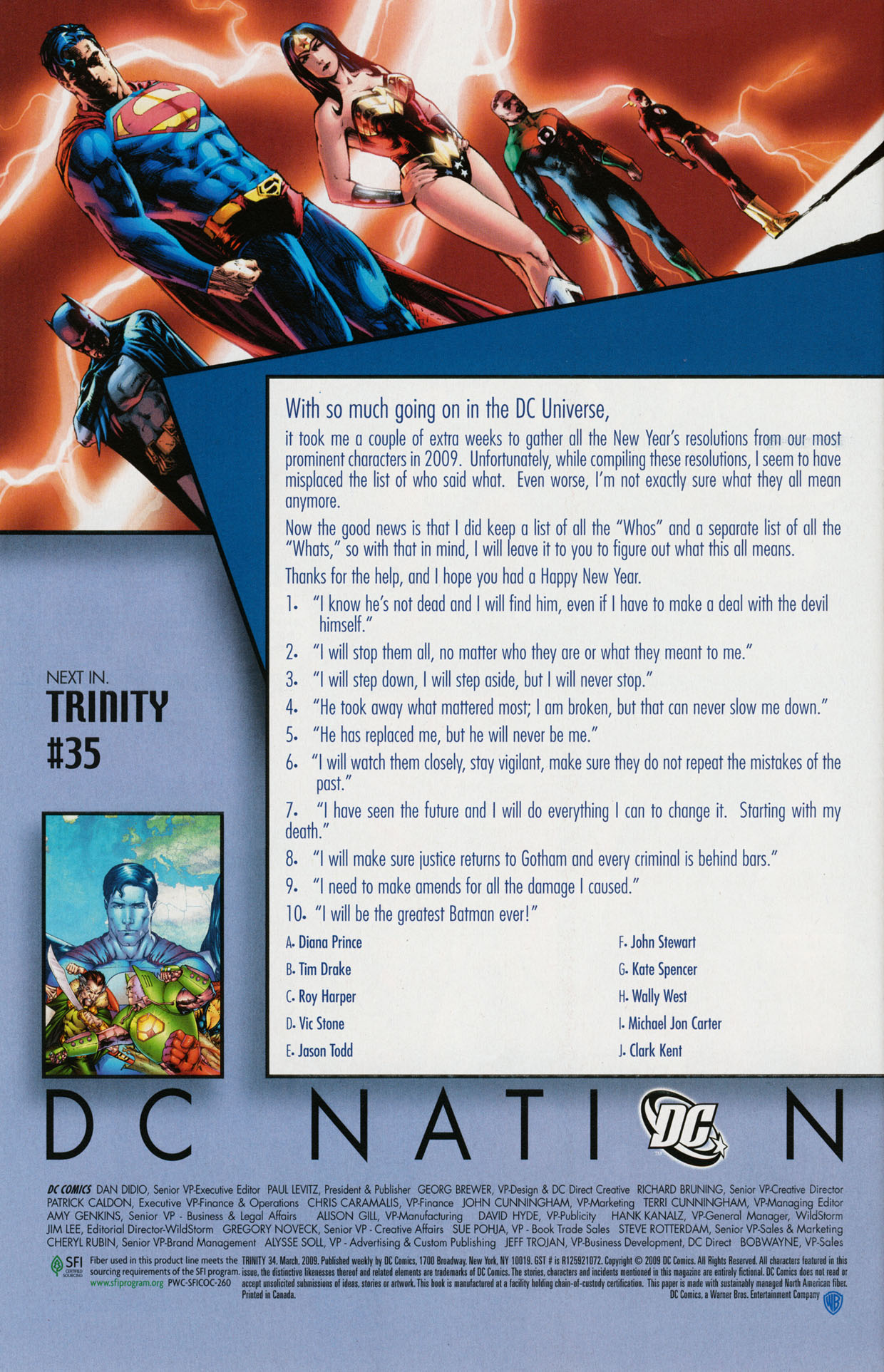 Read online Trinity (2008) comic -  Issue #34 - 32