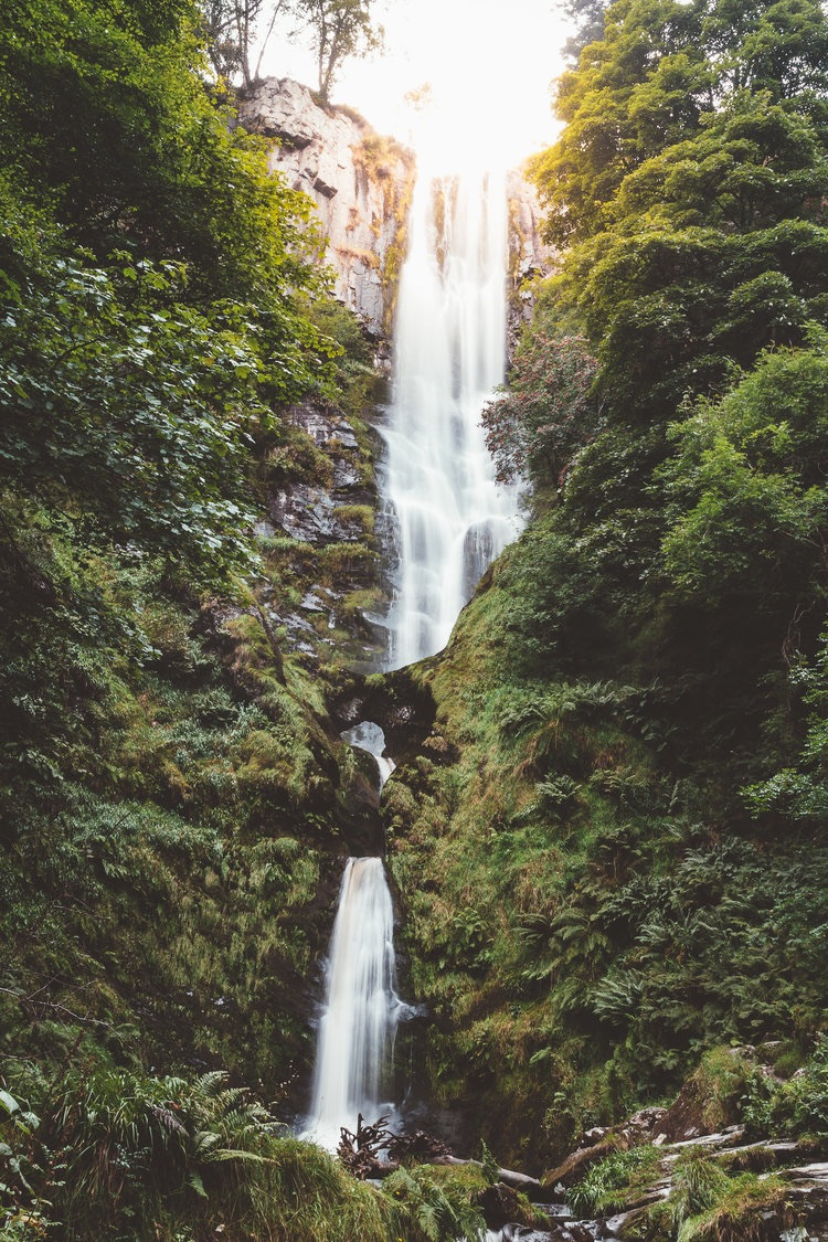 Pistyll Rhaedr Water falls