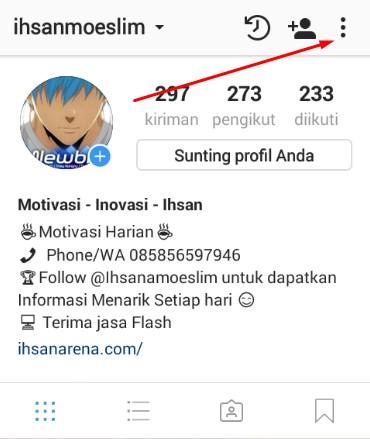 Agar akun Instagram menjadi private account