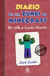 Diário de um zumbi do Minecraft de volta à escola monstro