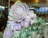 White green carved flower