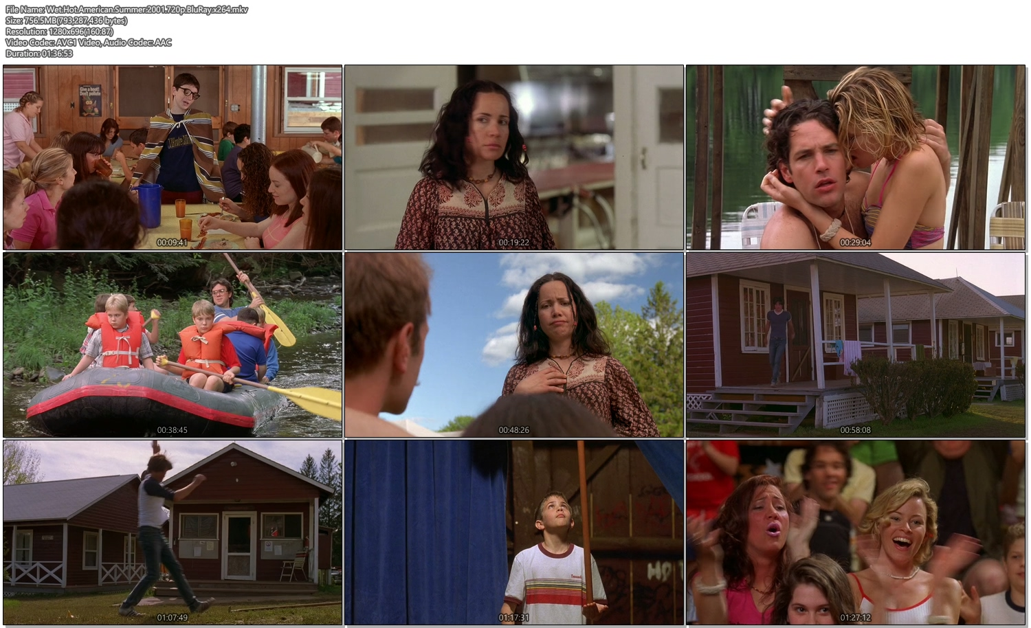 Wet Hot American Summer 2001 720p BluRay 750MB x264 Movie Screenshots
