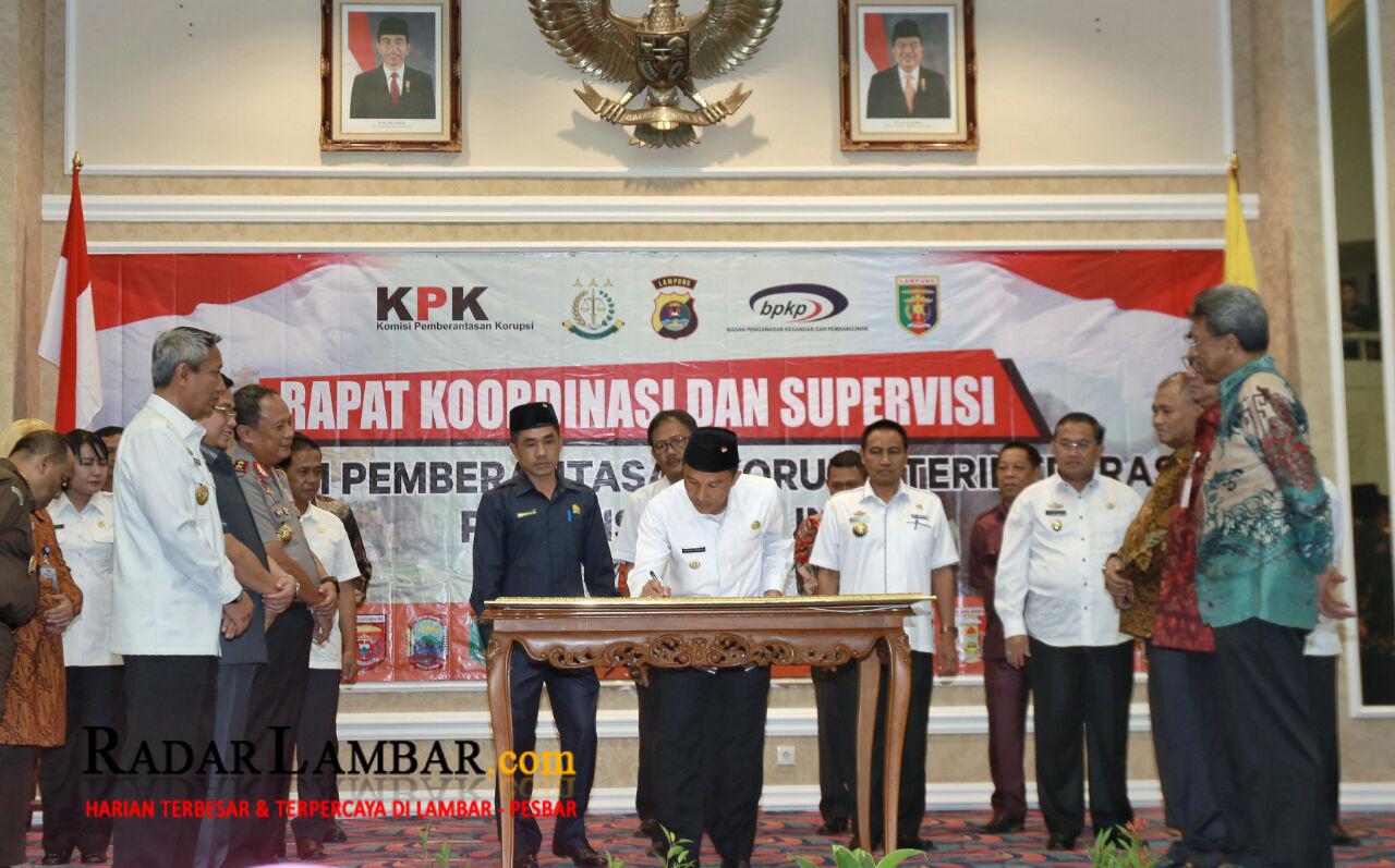 Pemkab Lambar – KPK Komitmen Berantas Korupsi