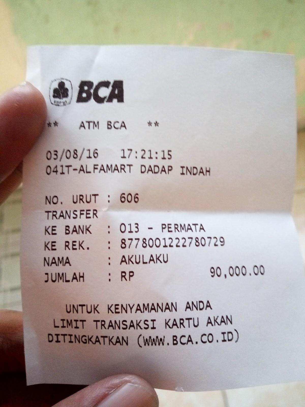 Akulaku memberikan tenggang waktu selama 24 jam kepada kita untuk mentransfer uang muka tersebut Karena gue memilih metode pembayaran melalui ATM Bank
