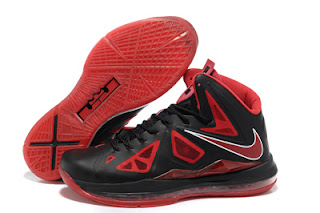 Nike Lebron X (10) Shoes - Red and Black