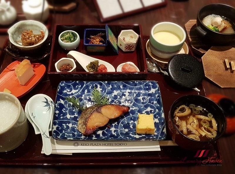 keio plaza hotel tokyo kagari japanese restaurant breakfast