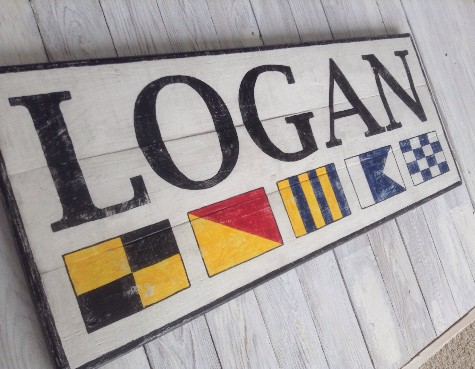 Custom Signal Flag Name Signs