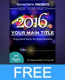 New Year 2016 Party Invitation Flyer PSD