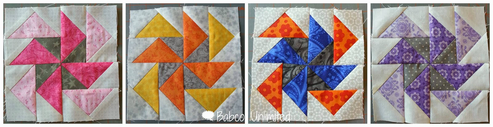 BabcoUnlimited.blogspot.com - Pinwheel Quilt Blocks