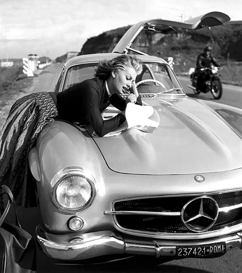 sophia loren her mercedes benz 300 sl gullwing. Black Bedroom Furniture Sets. Home Design Ideas