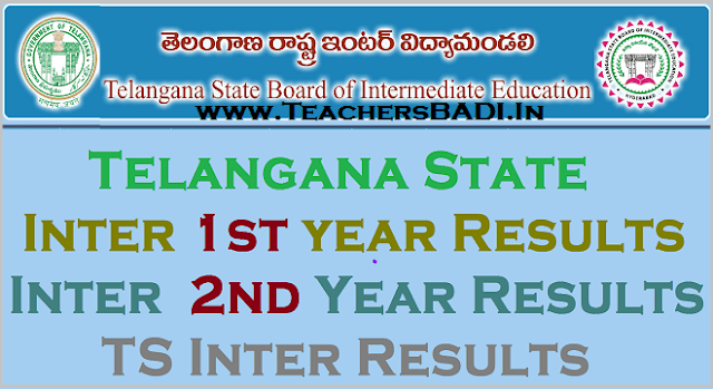 TS Inter Results, TS Inter 1st year results,TS Inter 2nd Year Results
