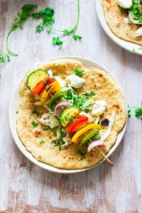 How to make vegetable souvlaki recipe, souvlaki gyros, vegetarian souvlaki recipe, vegan souvlaki recipe at www.oneteaspoonoflife.com