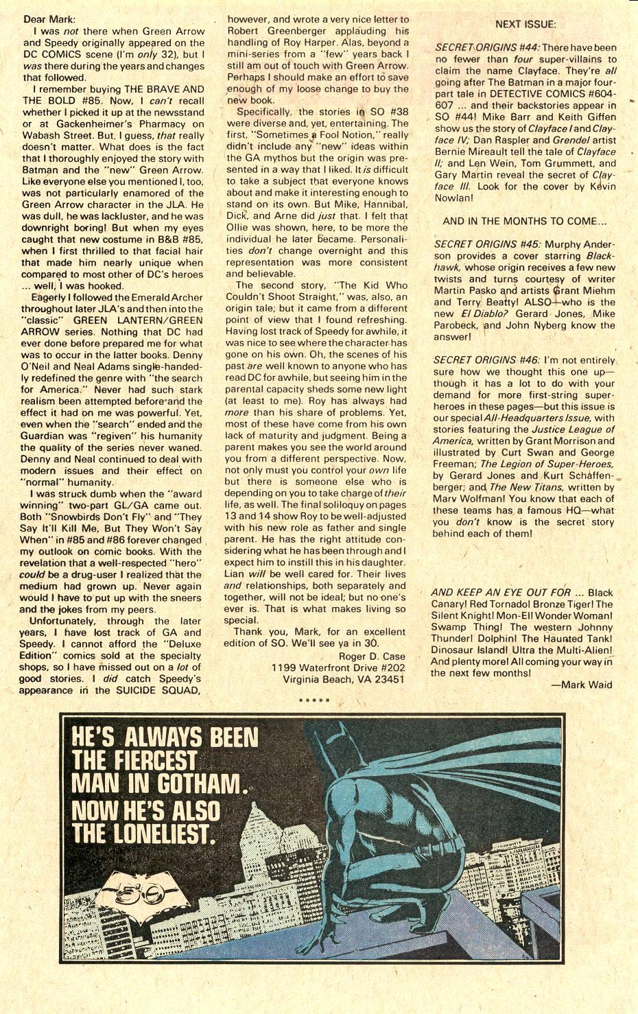 Read online Secret Origins (1986) comic -  Issue #43 - 39