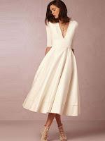 Ericdress V-Neck Half Sleeve Expansion Women's Maxi Dress