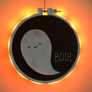 embroidery hoop with LED light strip