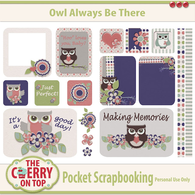 free pocket scrapbooking pages from The Cherry On Top