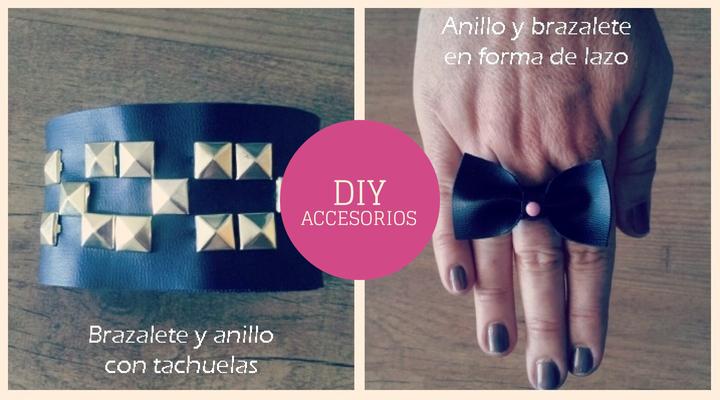 4 vídeo tutoriales para hacer tu misma 4 accesorios de moda a conjunto,o sea 2 juegos de brazaletes y anillos.