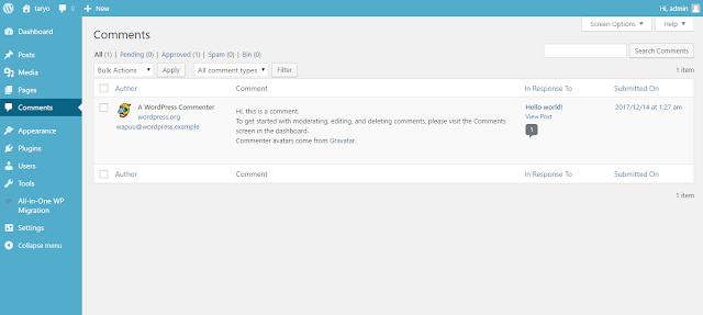 Mengenal Fungsi Menu Utama Pada Wordpress