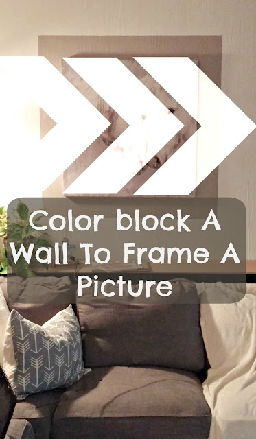 how to use a large picture as a statement piece