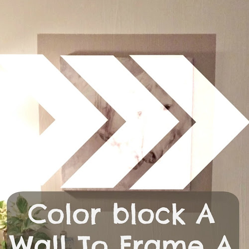 Color Blocking A Wall To Frame A Picture