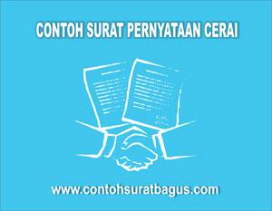 Contoh Surat Pernyataan Cerai Di Atas Materai Contoh Surat Bagus