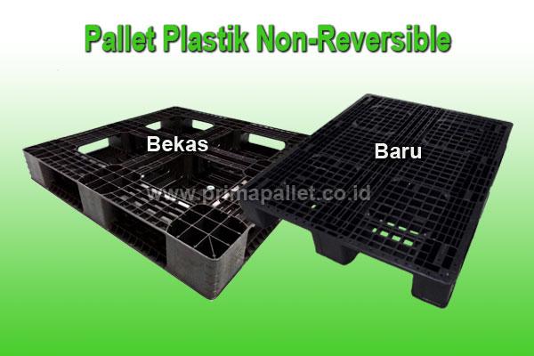 pallet plastik bekas non reversible