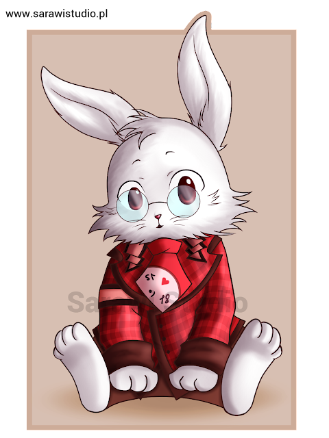 Heart no Kuni no Alice, Alicja w Krainie serc, manga, anime, komiks, postać królik, white rabbit, chibi, fanart, Peter White