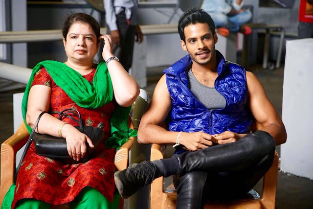 Nikhil Kumar with his mother
