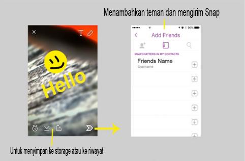 tutorial menggunakan snapchat