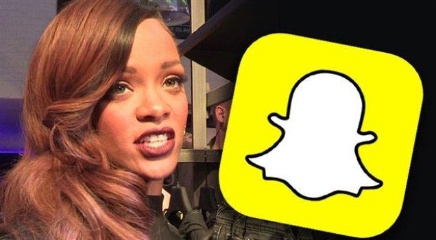 Rihanna ve Snapchat