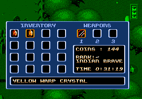 Legends Amiga inventory screen
