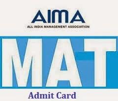 MAT December Admit Card