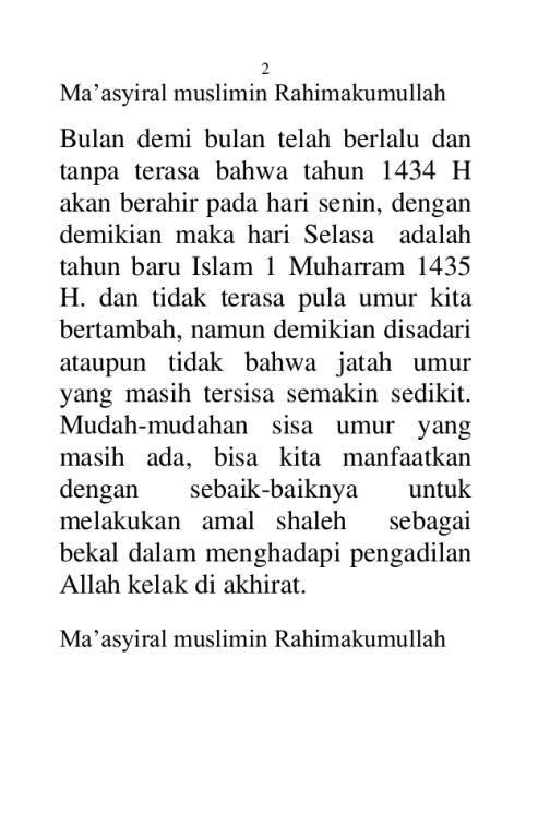 teks pidato menyambut tahun baru islam