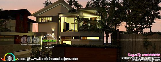 Modern house with in 4.5 cents by Sharchitects from Kerala