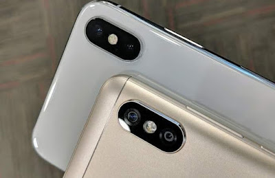 Tampilan kamera ganda pada xiaomi redmi note 5 pro