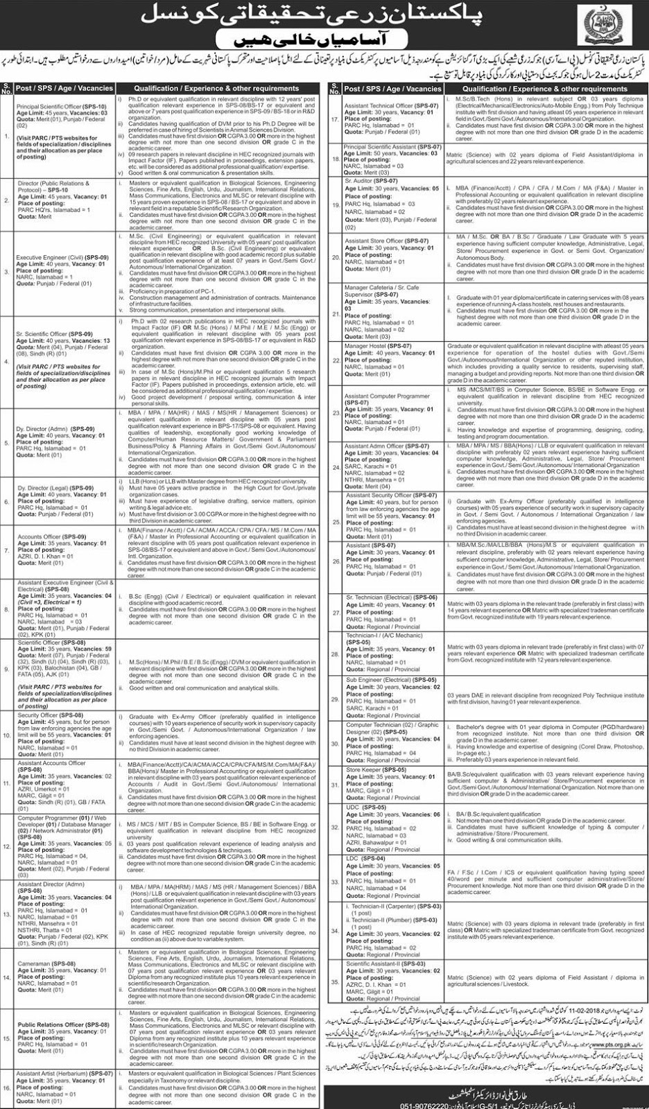 Pakistan Agriculture Research Council (PARC) Jobs 2019 | 144+ Multiple Vacancies   pakistan agriculture research council jobs 2018-19  parc jobs 2019  narc jobs 2018  parc jobs advertisement 2019  narc islamabad jobs 2018  www.parc.gov.pk jobs 2018  agriculture jobs in pakistan  narc national agricultural research center  pts jobs  parc jobs advertisement  pts railway jobs  parc jobs 2018  www.pts.com.pk jobs  parc jobs advertisement 2018  www.parc.gov.pk jobs 2018  pts jobs 2018
