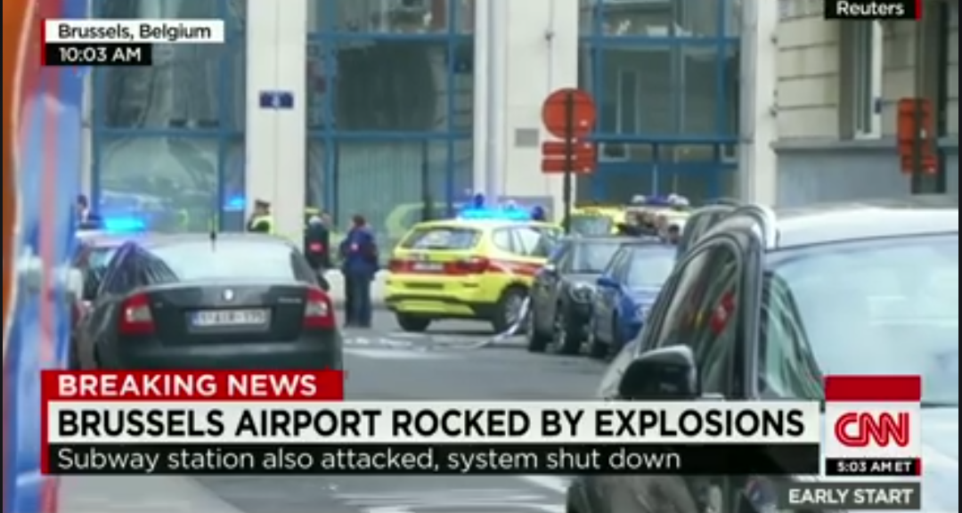 Brussels airport metro explosion today