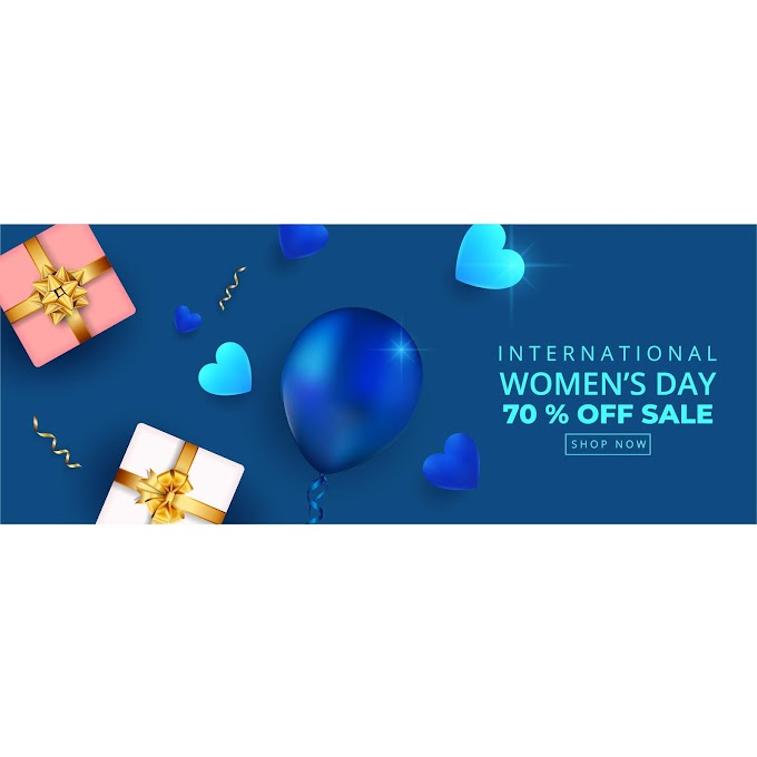 Woman day discount sale free vector