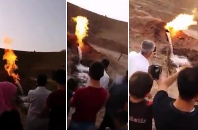 Astagfirullah, Fenomena Apa Ini? Sumber Air Bercampur Api Muncul di Perbatasan Saudi Dan Yaman