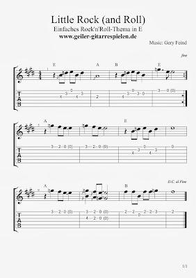 Leichte E-Gitarren-Melodie für Anfänger