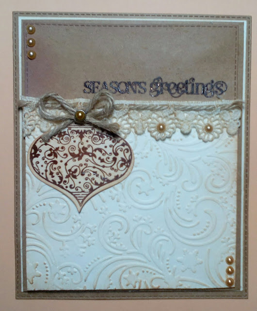 Cotswold Crafter: Rustic Style Christmas Card
