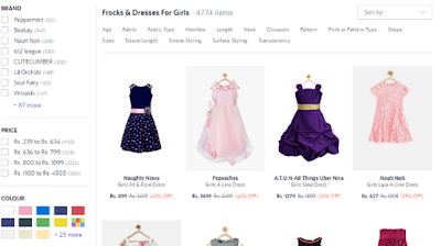 Shop Pretty Dresses For Your Princess From Myntra.Com