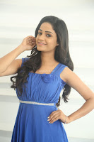 Divya Nandini stunning Beauty in blue Dress at Trendz Exhibition Launch ~  Celebrities Galleries 041.JPG