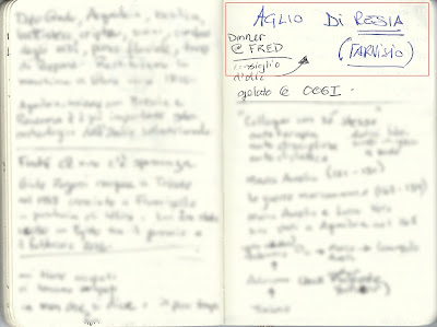 A sample of Italian writing, stampatello.