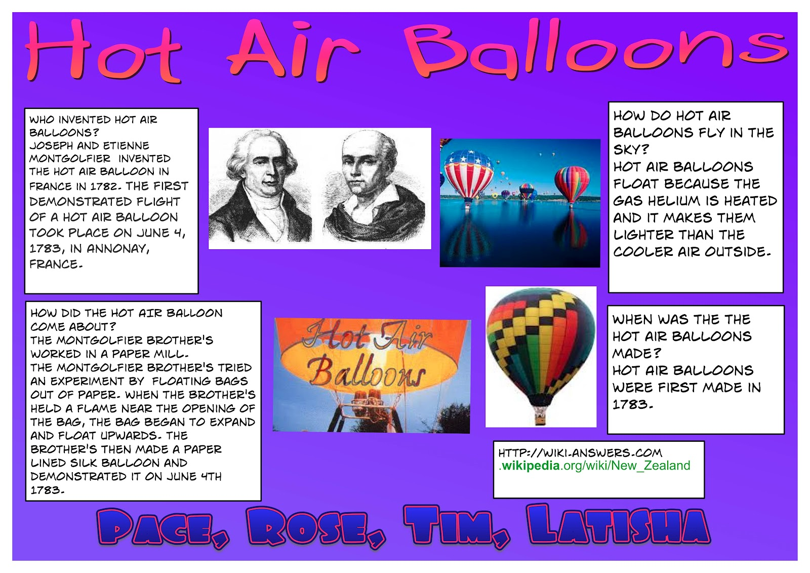 Creative Voice: My Hot Air Balloon Poster By Rose