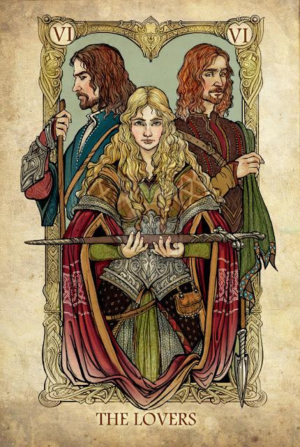 Senhor dos anéis em cartas de tarô - Os Amantes