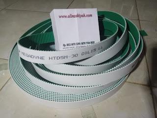 abkara tailor, timming belt,t.belt, Karet fanbelt, MEGADYNE,HTD5M-50,HTD5M-40,HTD5M-30,01L15 LL,karet mesin bordir,belt bordir
