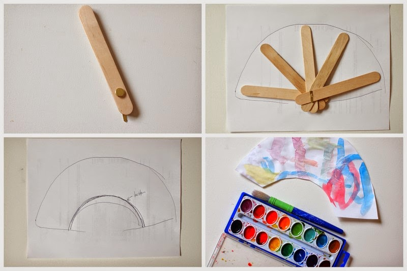 how to make a popsicle stick fan that actually folds