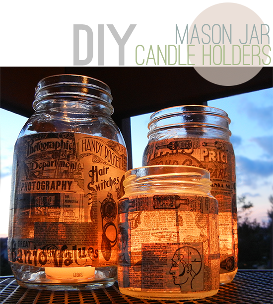 D.I.Y. Mason Jar Luminaires